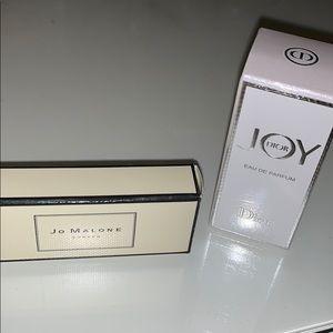 Joy Dior and Jo Malone samples